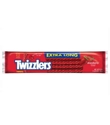 Twizzlers - Strawberry - EXTRA LONG - 25oz (709g) Soft Candy Twizzlers