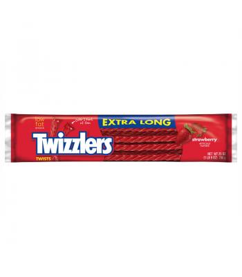 Twizzlers - Strawberry - EXTRA LONG - 25oz (709g) Soft Candy Twizzlers