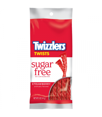 Twizzlers Strawberry SUGAR FREE 5oz (141g) Soft Candy Twizzlers