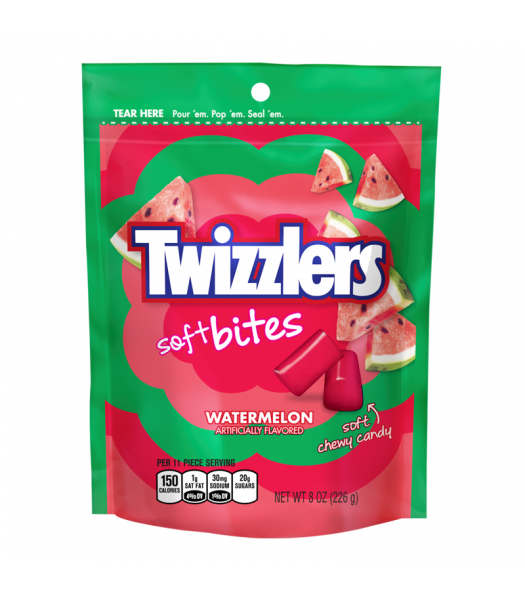 Twizzlers - Watermelon Soft Bites - 8oz (226g) Sweets and Candy Twizzlers