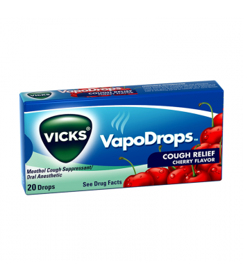 Vicks VapoDrops Cough Relief Cherry Flavour 20-Drops Sweets and Candy