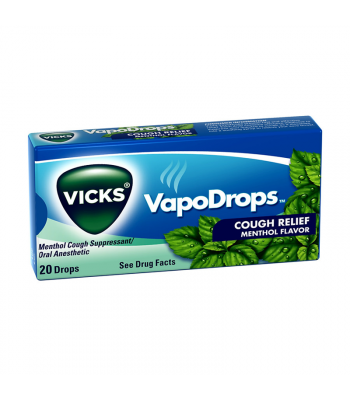 Vicks VapoDrops Cough Relief Menthol Flavour 20-Drops Sweets and Candy