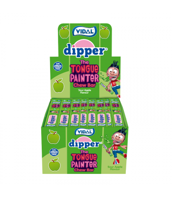 Vidal Dipper Tongue Painter Sour Apple Chew Bar - SINGLE Sweets and Candy Vidal