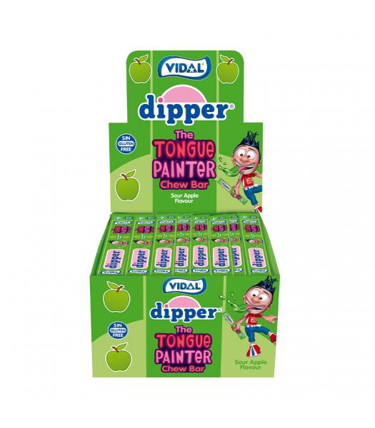 Vidal Dipper Tongue Painter Sour Apple Chew Bar - SINGLE Sweets and Candy Vidal