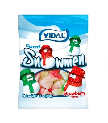 Vidal Gummi Sugared Snowmen - 4.5oz (128g) Sweets and Candy