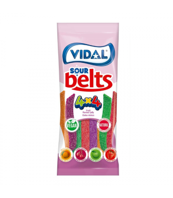 Vidal Vegan Sour Belts - 3.5oz (100g) Sweets and Candy Vidal