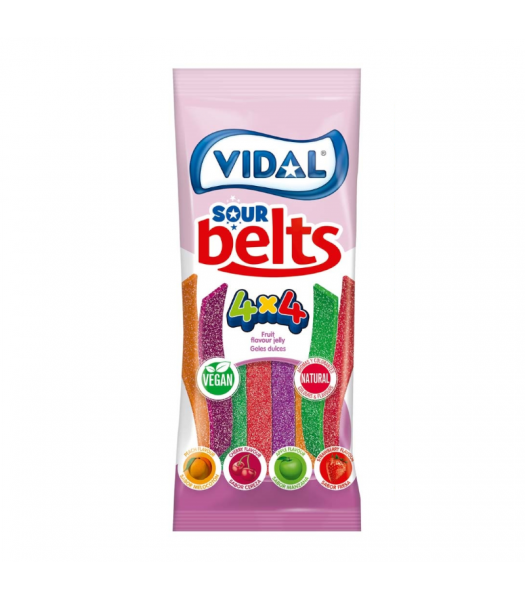 Vidal Vegan Sour Belts - 3.5oz (100g) Sweets and Candy Vidal