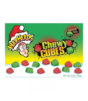Warheads Chewy Cubes - 4oz (113g) [Christmas] Sweets and Candy Warheads