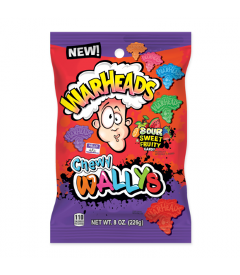 Warheads Chewy Wallys Sour Sweet & Fruity - 8oz (226g) Sweets and Candy Warheads