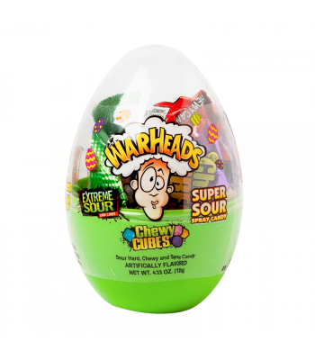 Warheads Filled Scrambler Egg - 4.23oz (120g) Sweets and Candy Warheads