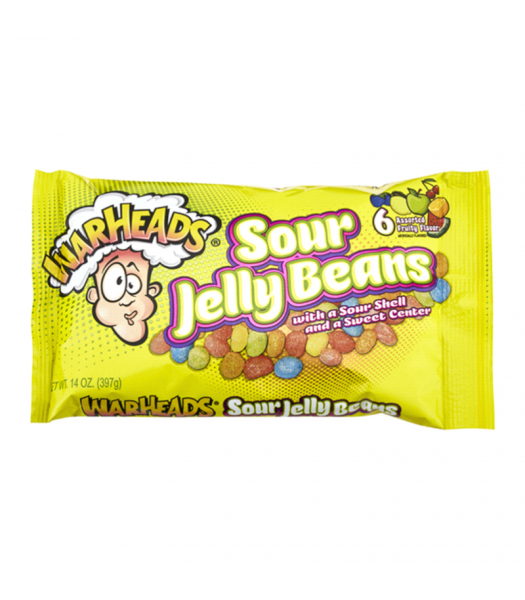 Warheads Easter Sour Jelly Beans - 14oz (397g) Sweets and Candy Warheads