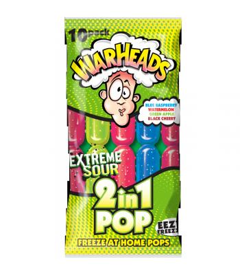 Warheads 2 in 1 Freeze Pops 10pk