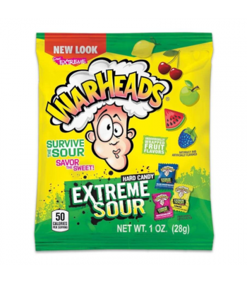 Warheads - Extreme Sour Hard Candy - 1oz (28g) Hard Candy Warheads