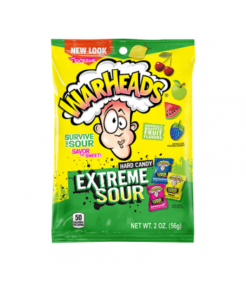 Warheads Extreme Sour Hard Candy - 2oz (56g) Sweets and Candy Warheads