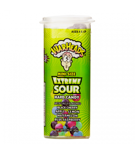 Warheads - Mini Size Extreme Sour Hard Candy - 1.75oz (49g) Sweets and Candy Warheads