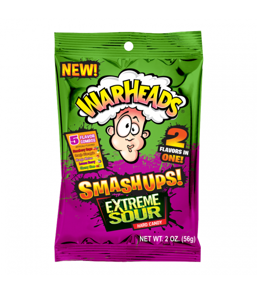 Warheads Smashups Extreme Sour Hard Candy 2oz (56g) Sweets and Candy Warheads