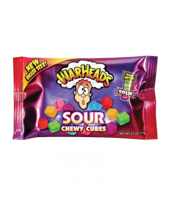 Warheads Sour Chewy Cubes 2.5oz (70g) Sweets and Candy Warheads