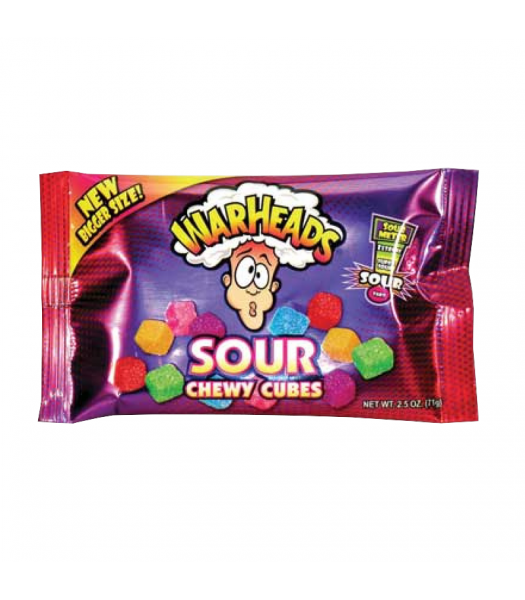 Warheads - Sour Chewy Cubes 2.5oz (70g)  Warheads