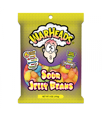 Warheads Sour Jelly Beans 5oz (141g) Sweets and Candy Warheads