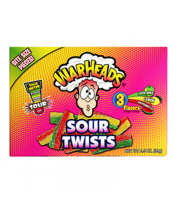 Warheads Sour Twists Theatre Box 3.5oz (99g) Soft Candy Warheads