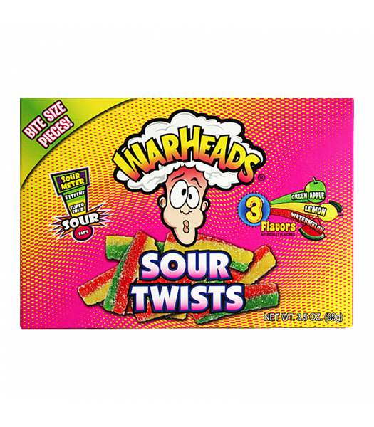 Warheads - Sour Twists Theatre Box 3.5oz (99g) Soft Candy Warheads