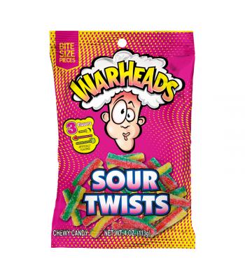 Warheads Sour Twists Peg Bag - 4oz (113g) Sweets and Candy Warheads
