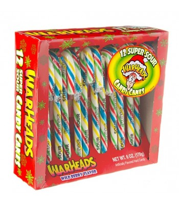 Warheads Super Sour Candy Canes - 6oz (171g) [Christmas] Sweets and Candy Warheads