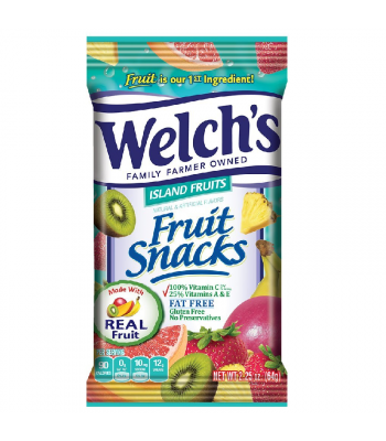Welch's Fruit Snacks Island Fruits 2.25oz (64g) Soft Candy Welch's