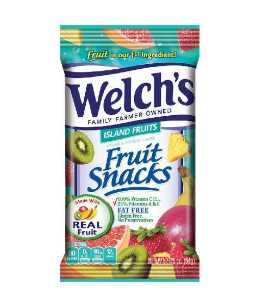 Welch's Fruit Snacks Island Fruits 2.25oz (64g) Sweets and Candy Welch's
