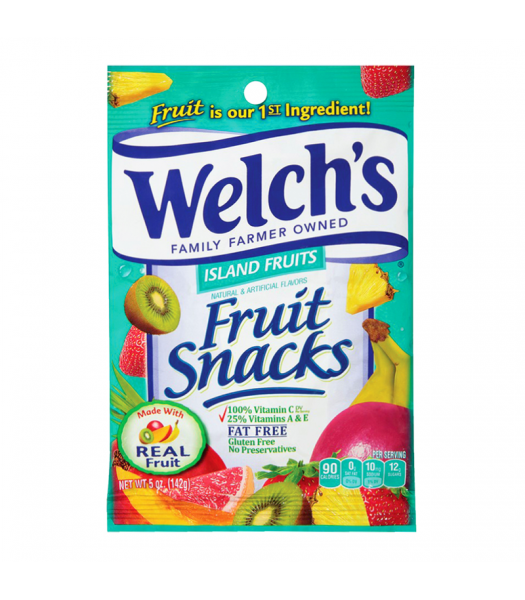Welch's Fruit Snacks Island Fruits - 5oz (142g) Sweets and Candy Welch's