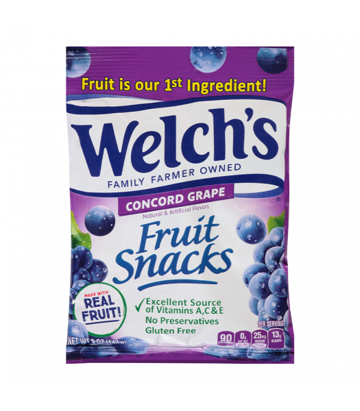 Welch's Fruit Snacks Grape - 5oz (142g) Sweets and Candy Welch's