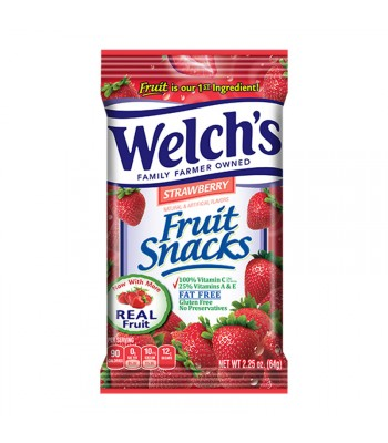 Welch's Fruit Snacks Strawberry 2.25oz (64g) Sweets and Candy Welch's