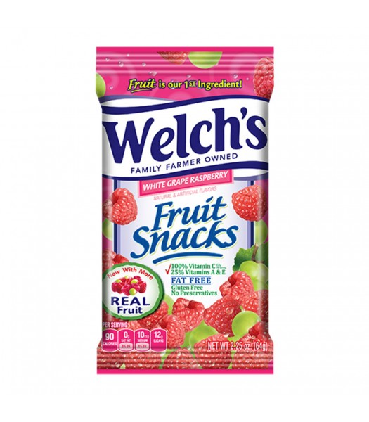 Welch's Fruit Snacks White Grape Raspberry 2.25oz (64g) Sweets and Candy Welch's
