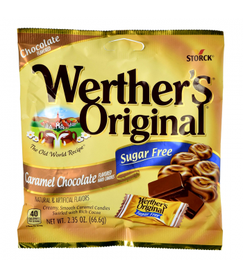 Werther's Original Caramel Chocolate SUGAR FREE Hard Candies 2.35oz (66.6g) Hard Candy Werther's Original