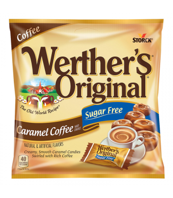 Werther's Original Caramel Coffee SUGAR FREE Hard Candies 1.46oz (41.4g) Hard Candy Werther's Original