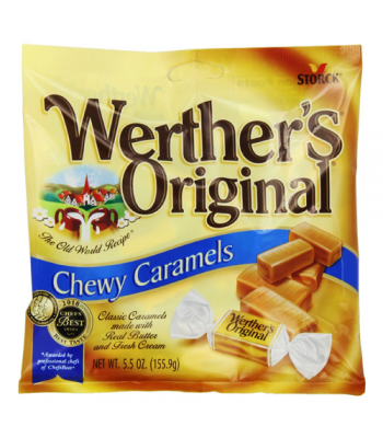Werther's Original Chewy Caramels - 2.4oz (68g) Sweets and Candy Werther's Original