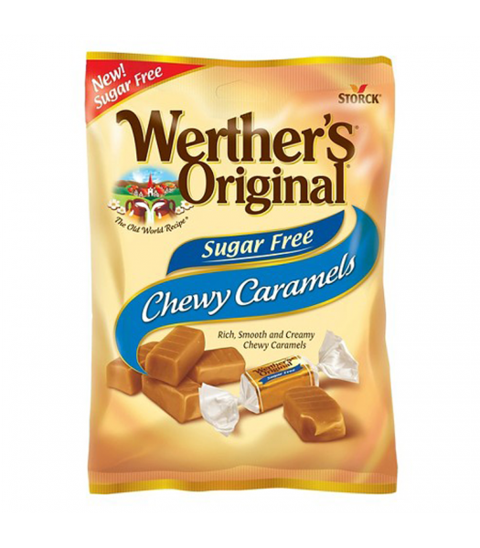 Werther's Original Chewy Caramels SUGAR FREE 1.46oz (41.4g) Hard Candy Werther's Original