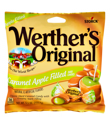 Werther's Original Caramel Apple Filled Hard Candies BIG BAG 5.5oz (155.9g) Hard Candy Werther's Original