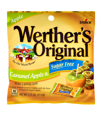 Werther's Original Caramel Apple SUGAR FREE Hard Candies 2.75oz (77.9g) Hard Candy Werther's Original