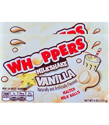 Clearance Special - Whoppers Milkshake Vanilla 4oz **Best Before: June 17** Clearance Zone