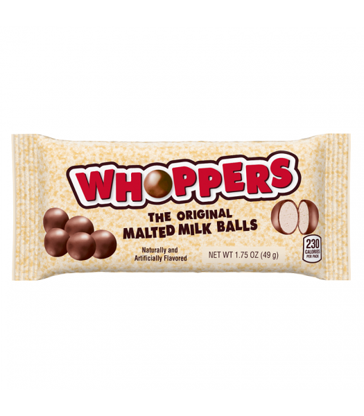 Whoppers Malted Milk Balls 1.75oz (49g) Chocolate, Bars & Treats Whoppers