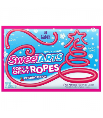 SweeTarts Soft & Chewy Ropes Share Pack (Formally Kazoozles) - Cherry Punch 3.5oz (99.2g) Soft Candy Wonka