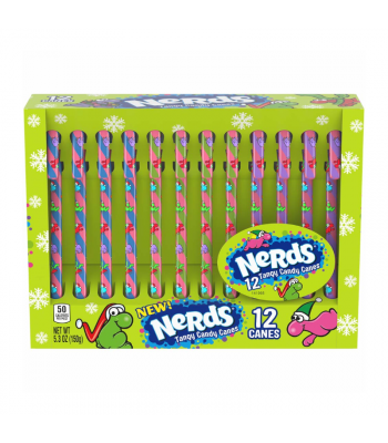 Nerds Candy Canes - 5.3oz (150g) [Christmas]  Sweets and Candy Wonka
