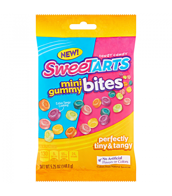 SweeTarts Mini Gummy Bites 5.25oz (148.8g) Sweets and Candy Nestle