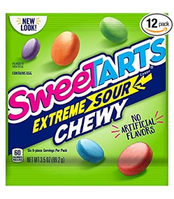 Sweetarts Extreme Chewy Sours - 3.5oz (99.2g) Soft Candy Nestle
