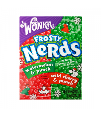 Clearance Special - Wonka Frosty Nerds Watermelon & Punch/Wild Cherry & Punch 1.65oz (46.7g) (Best Before: August 2016) Clearance Zone