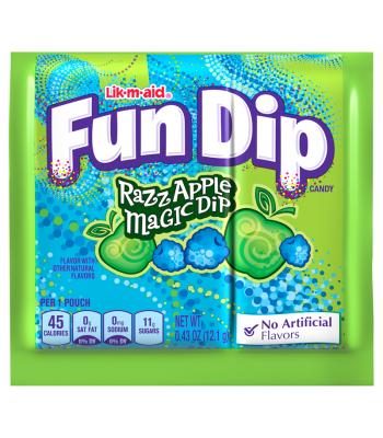 Wonka Fun Dip Razz Apple Magic Dip 14.1g  Lollipops Wonka