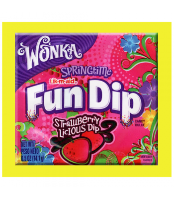 Fun Dip Springtime Lik-M-Aid Strawberry Licious - 0.43oz (12.1g)  Sweets and Candy Ferrara
