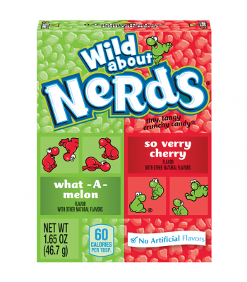 Wonka Nerds Wild Cherry & Watermelon 1.65oz (46.7g) Hard Candy Wonka