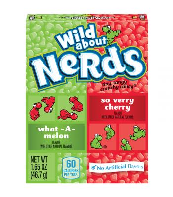 Wonka Nerds Wild Cherry & Watermelon 1.65oz 46.7g Hard Candy Wonka